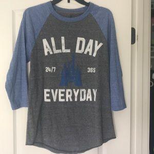 Disney world baseball style T-shirt